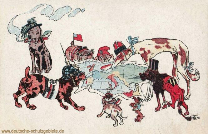 Die Situation in Europa im Jahre 1914