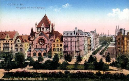 Köln, Königsplatz mit neuer Synagoge