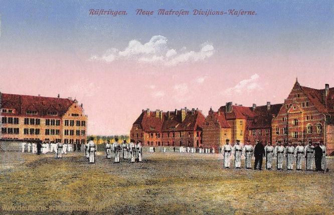 Rüstringen. Neue Matrosen Divisions-Kaserne.