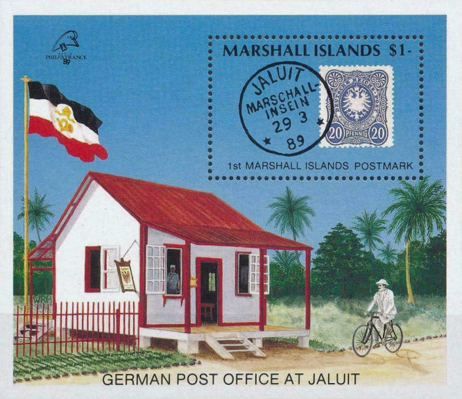 Marshall Islands 1 $ 1989. German Post Office at Jaluit.