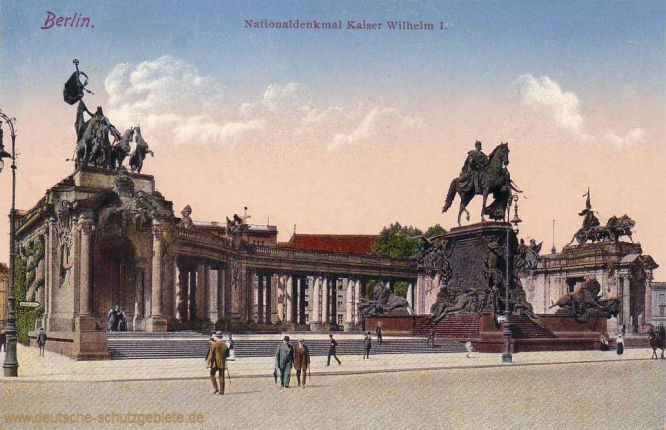Berlin. Nationaldenkmal Kaiser Wilhelm I.