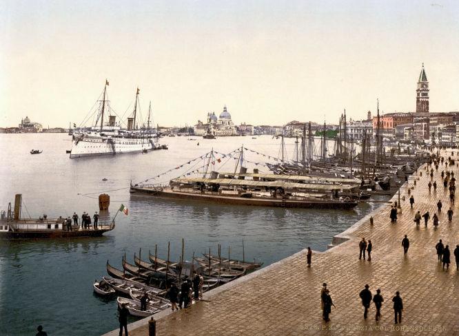 Venedig. S.M.S. Hohenzollern.