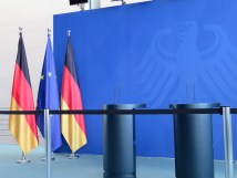 This is where Angela Merkel gives press conferences.