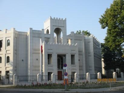 Qatar Embassy, in a quiet Berlin suburb