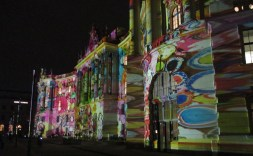 Humboldt Uni light art