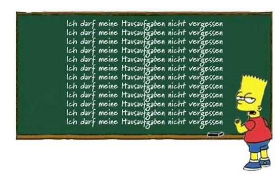 H A U S A U F G A B E N  im zweiten Jahr Deutsch (1/6)