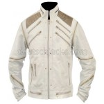 Beat It Michael Jackson White Real Leather Jacket