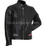 Diamond Plate Unisex Buffalo Leather Motorcycle Jacket2