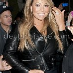 Mariah Carey Black Biker Style Motorcycle Leather Jacket