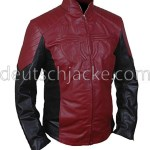 The Amazing Spider-Man Red & Black Biker Leather Jacket.