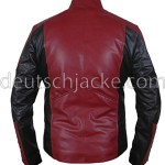 The Amazing Spider-Man Red & Black Biker Leather Jacket.2