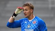 Nummer eins bei den Mainzern: Robin Zentner kann Trainer Beierlorzer überzeugen.