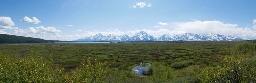 Un plaine de  Grand Teton