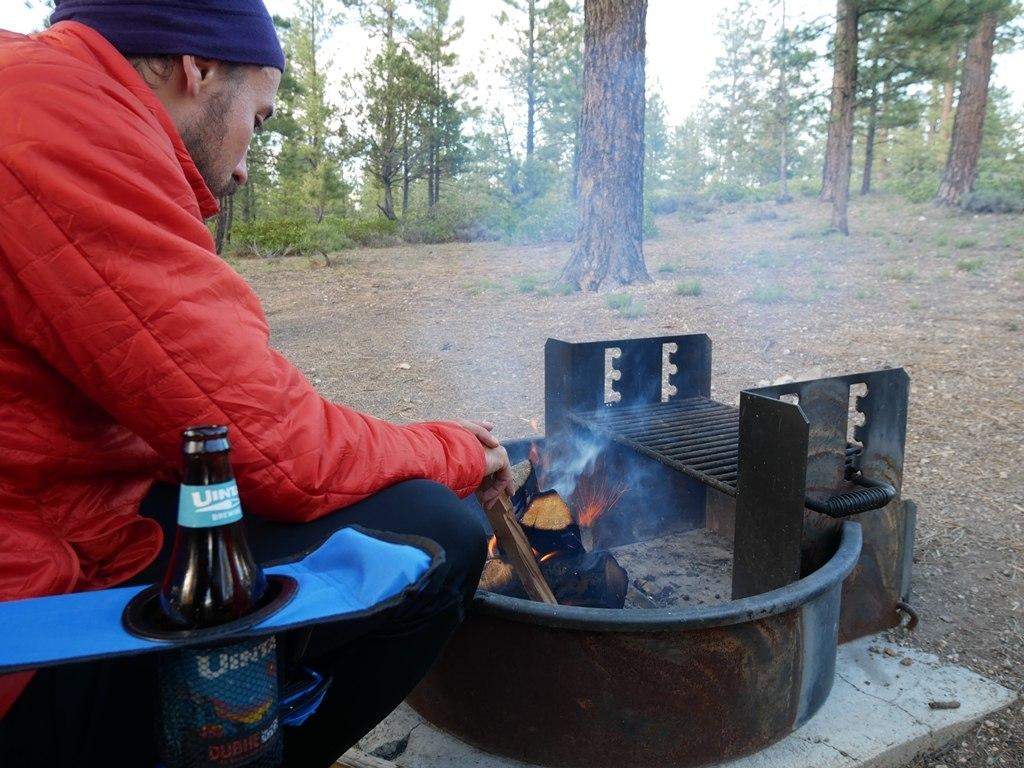 Un bon feu pour se réchauffer