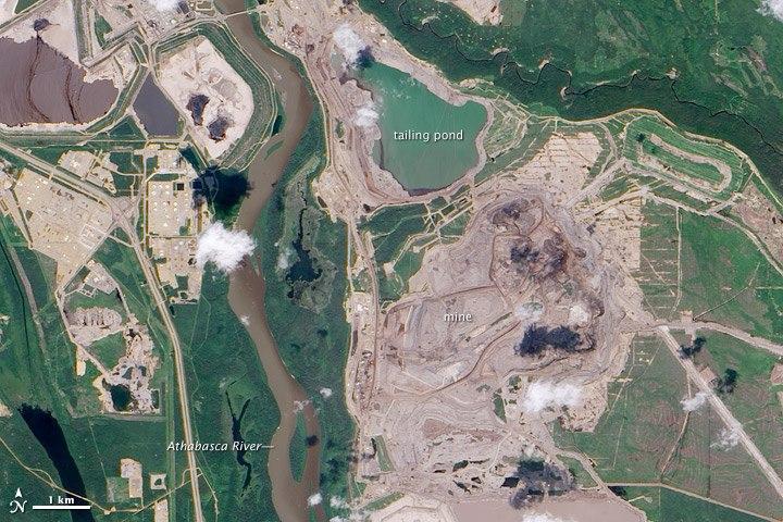 Athabasca sable bitumineux - NASA