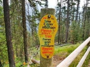 Respectons les sentiers à Banff
