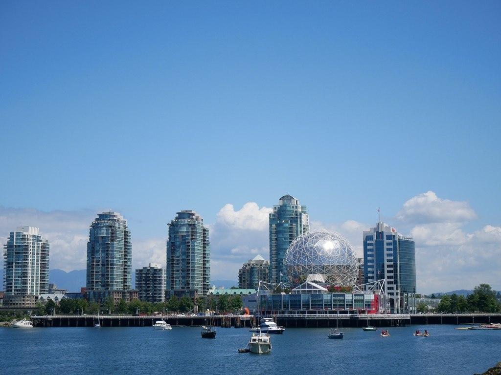 Vue sur le centre-cille de Vancouver