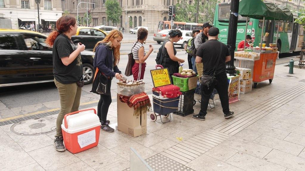 Bouffe de rue devant l'université