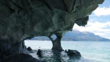 Caverne de marbre intérieur sur la Carretera Austral