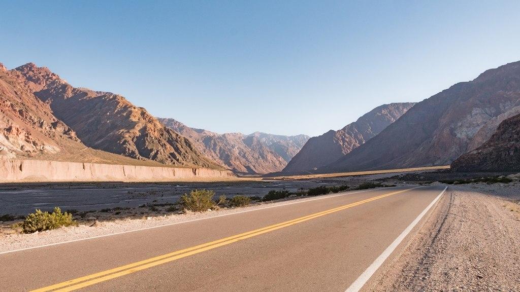 Sur la route de l'Aconcagua
