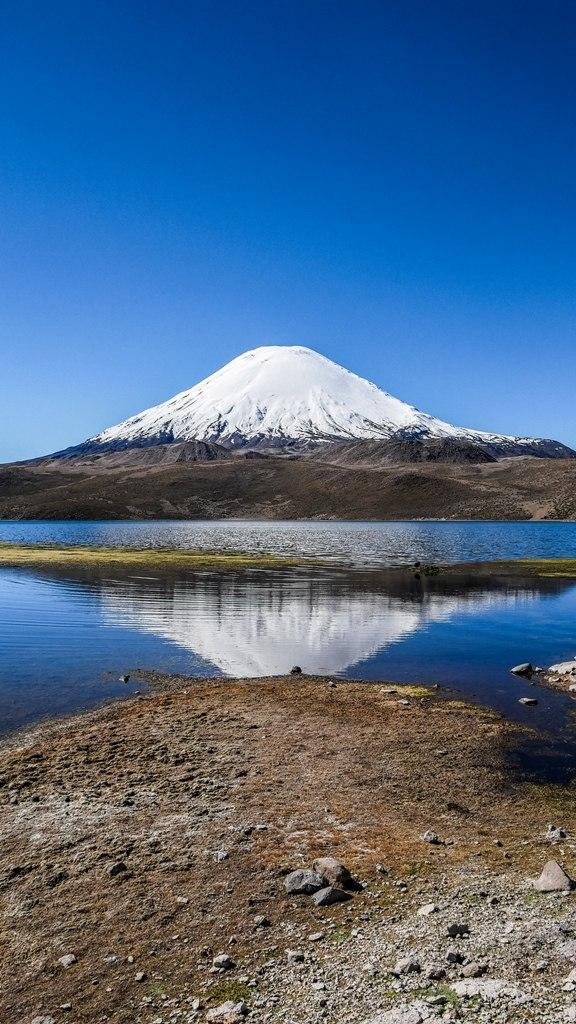 Le volcan Parinacota coté Parc Lauca