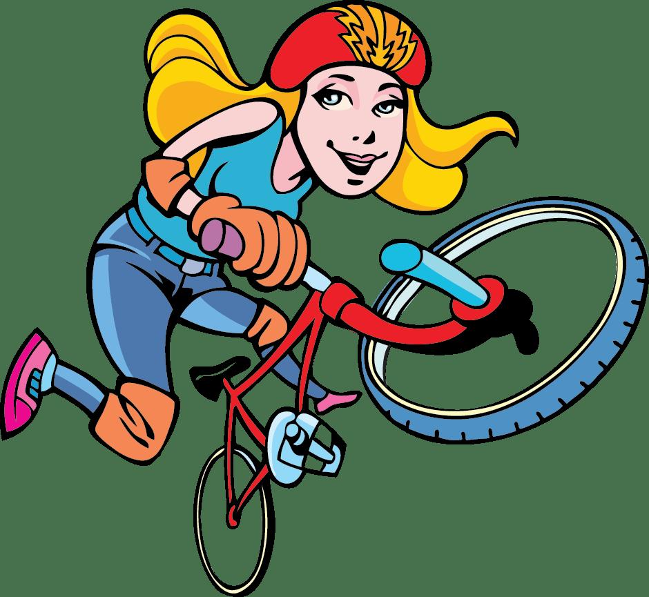 Girl Riding BMX