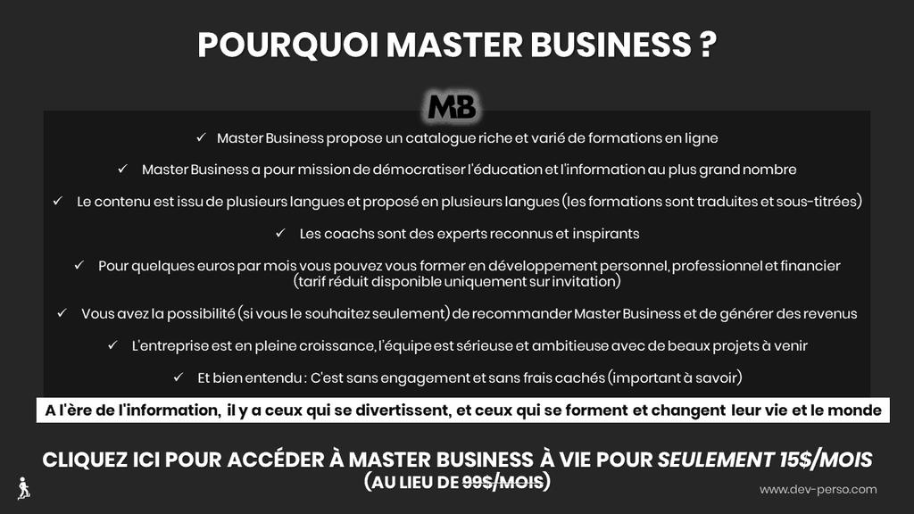 Master Business Avis et bénéfices