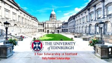 University of Edinburgh Fully Funded PhD Scholarships in UK