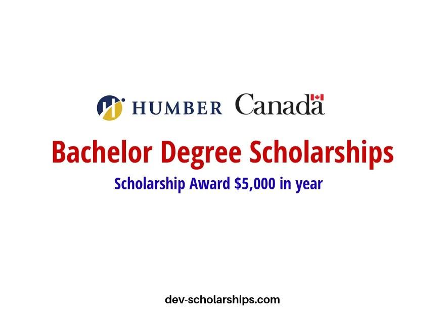 Humber College International Undergraduate Scholarships in Canada, 2019