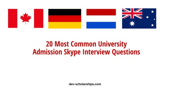 20 Most Common Admission Skype Interview Questions