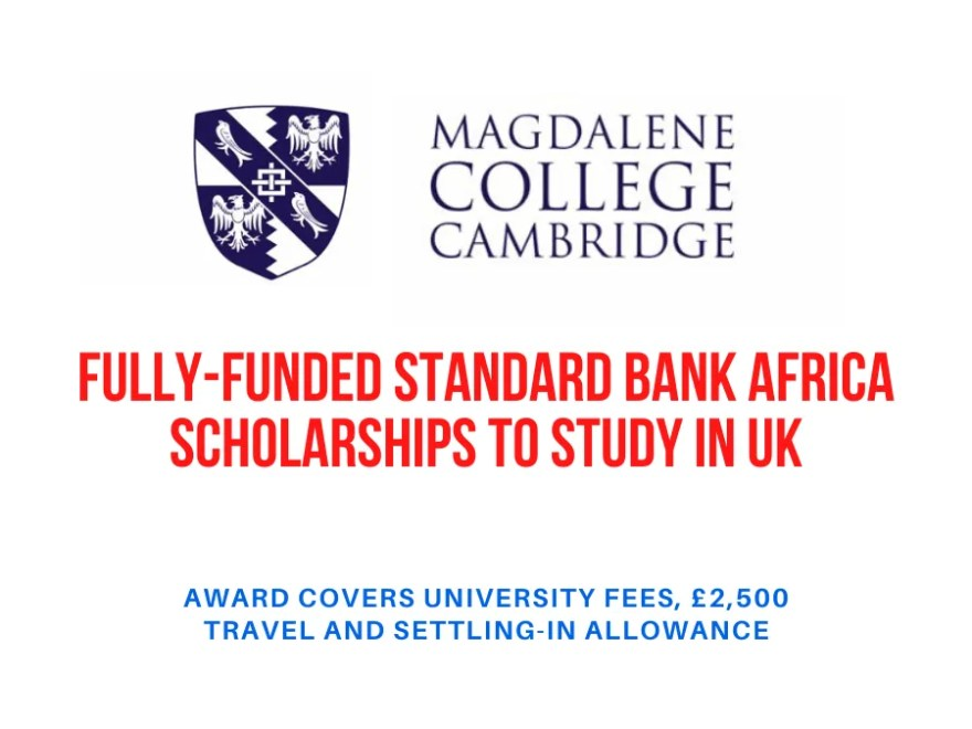 Fully-Funded Standard Bank Africa Scholarships to Study in UK