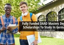 Fully Funded DAAD Masters Degree Scholarships To Study In Germany