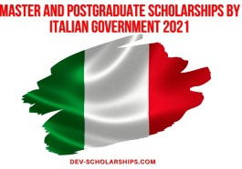 Master and Postgraduate Scholarships by Italian Government 2021