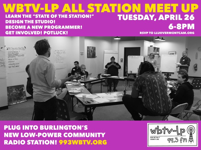 All Station Meeting April Poster