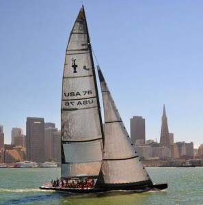 Book an adventure sail in San Francisco aboard USA 76