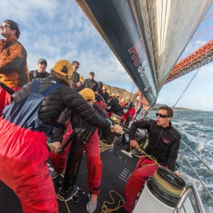 Races aboard USA 76 are great for corporate team building activities