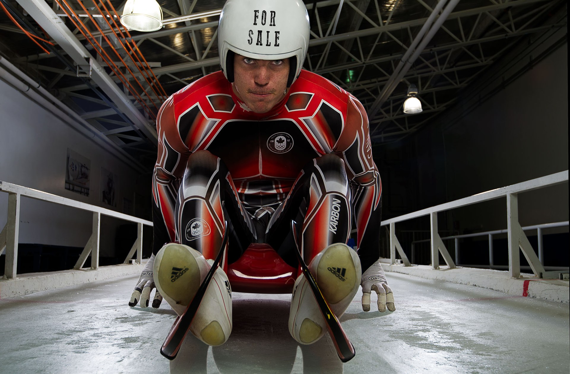Portrait case study of Canadian Olympic Luge Athlete, John Fennell
