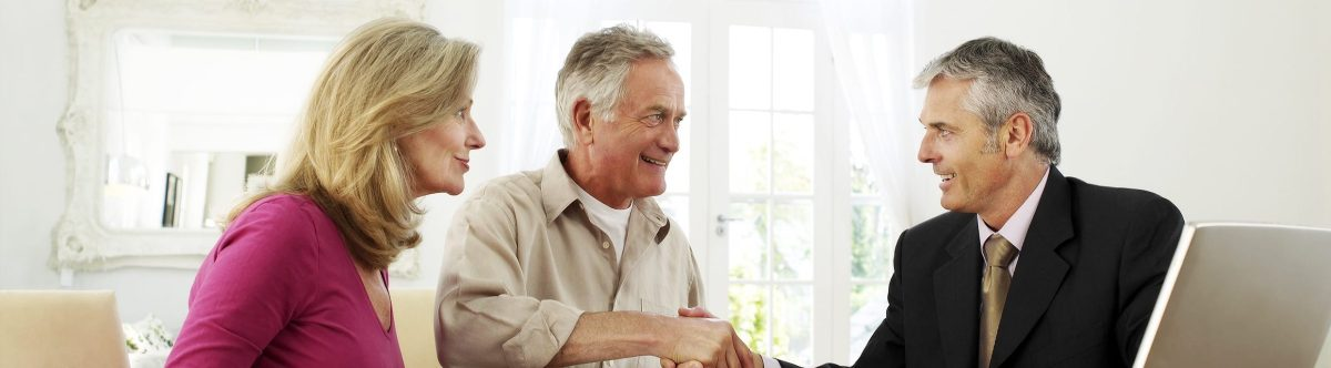 Retired couple with annuity advisor