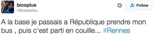 tweet populaire janvier 2016 #Rennes