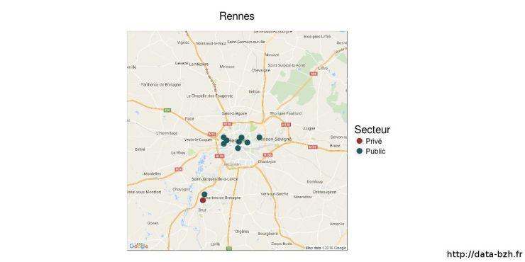 L'enseignement supérieur à Rennes
