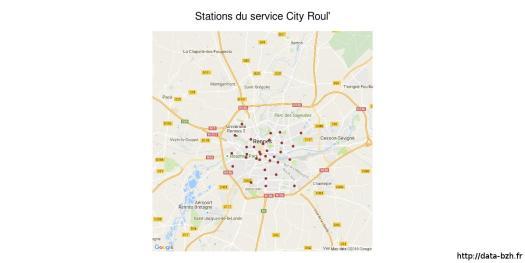 Emplacements des stations City Roul'