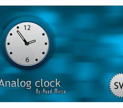 Svg Analog Clock Vector Image