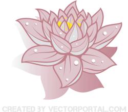 Vector Art Lotus Flower Image