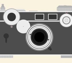 Vector Vintage Argus C3 Camera
