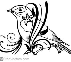 Floral Bird Vector