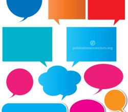 Color Speech Bubbles Illustration
