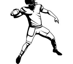 American Football Player Vector Graphics