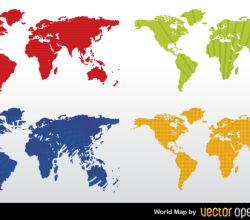 Free Color World Map Vector
