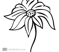 Flower Design Vector Art