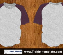 Youth Raglan Tshirt Template